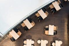 Drewno Stołowego gościa restauracji ustalony minimalny styl Obrazy Royalty Free