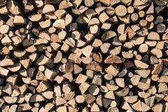 Drewno stos zdjęcie stock