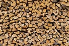 Drewno stos z wiele małymi kawałkami drewno Zdjęcia Royalty Free
