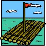 drewno tratwa statku Zdjęcie Royalty Free