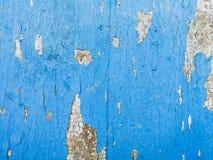Drewno z brudnego grunge starą błękitną farbą Zdjęcia Royalty Free