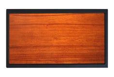 Drewno z metal ramą zdjęcia stock