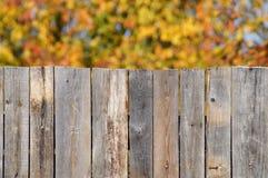 Drewno za ogrodzeniem zdjęcie stock