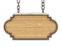 drewno znak Zdjęcia Royalty Free