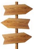 Drewno znak Zdjęcie Royalty Free