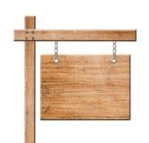 Drewno znak odizolowywający. Obraz Royalty Free