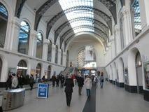 Drezdeńska główna stacja kolejowa, Niemcy Obrazy Royalty Free