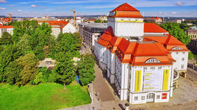 DREZDEŃSKI, GERMANY-SEPTEMBER 08, 2015: Histoirical centrum Drezdeński Stary miasteczko Drezdeński długą historię jako r i kapita Obrazy Stock