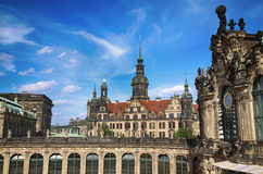 DREZDEŃSKI, NIEMCY †'SIERPIEŃ 13, 2016: Dresdner Zwinger, odbudowywający Zdjęcie Royalty Free