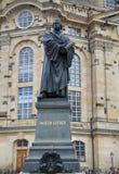DREZDEŃSKI, NIEMCY †'SIERPIEŃ 13, 2016: Frauenkirche Nasz dama Chu obraz royalty free