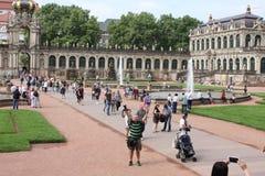 Drezdeński, Niemcy: Aug 25 2016 - Sławna Zwinger pałac Dera Dresdner Zwinger galeria sztuki Drezdeński, Saxrony, Niemcy Obraz Royalty Free