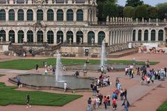 Drezdeński, Niemcy: Aug 25 2016 - Sławna Zwinger pałac Dera Dresdner Zwinger galeria sztuki Drezdeński, Saxrony, Niemcy Zdjęcie Stock