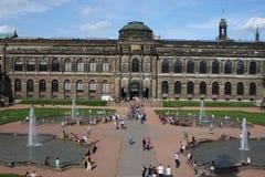 Drezdeński, Niemcy: Aug 25 2016 - Sławna Zwinger pałac Dera Dresdner Zwinger galeria sztuki Drezdeński, Saxrony, Niemcy Obraz Stock