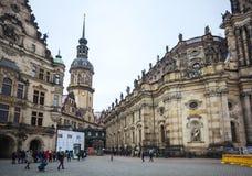 22 01 2018 Drezdeński; Niemcy - Drezdeńska katedra Święty Trin Fotografia Stock