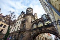 22 01 2018 Drezdeński; Niemcy - Drezdeńska katedra Święty Trin Obrazy Royalty Free