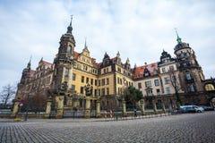 22 01 2018 Drezdeński; Niemcy - Drezdeńska katedra Święty Trin Zdjęcia Royalty Free