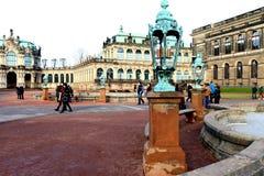 DREZDEŃSKI, NIEMCY, Grudzień - 25, 2012: Drezdeńska galeria sztuki i starego mistrza obrazek galeria Zdjęcie Stock