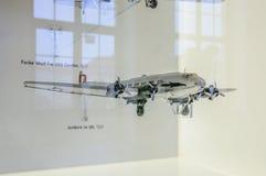 DREZDEŃSKI, NIEMCY - MAI 2015: Samolotów pasażerskich junkiery Ju 90 1937 fotografia stock