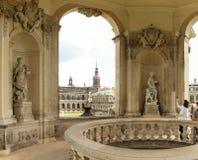 Drezdeński, Niemcy, Sierpień - 4, 2017: Zwinger - opóźniony Niemiecki barok, zakładający w wczesnym xviii wiek kompleks cztery ws Fotografia Royalty Free