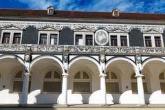 Drezdeński, Niemcy, Sierpień - 4, 2017: Zwinger - opóźniony Niemiecki barok, zakładający w wczesnym xviii wiek kompleks cztery ws Obrazy Royalty Free