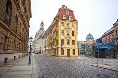 22 01 2018 Drezdeński, Niemcy - starzy piękni domy w Drezdeńskim, S Fotografia Stock