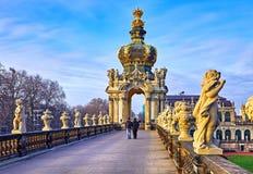 Drezdeński architektoniczny i Zdjęcie Royalty Free