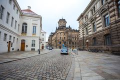 22 01 2018 Drezdeński, Niemcy - historyczny stary budynek policja De Fotografia Stock