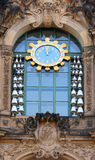 Drezdeński Zwinger zegar Fotografia Royalty Free