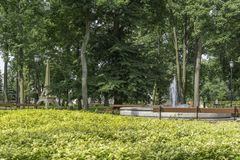 Drezdenko - Miniaturpark Stockfoto