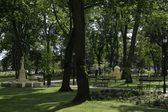 Drezdenko - miniatuurpark Stock Afbeelding