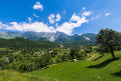 Dreznica village at summer in Slovenia Alps Royalty Free Stock Photo