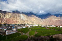 Dörfer in den Bergen Lizenzfreie Stockfotos