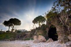 DRI las ruinas de la playa de Fontania Imágenes de archivo libres de regalías