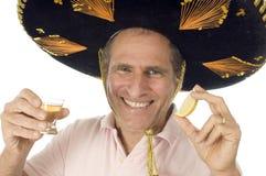 Dri mexicain mâle de touristes aîné de chapeau de somebrero Images libres de droits