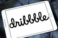 Dribbble-Online-Community-Logo stockfoto
