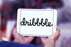 Dribbble-Online-Community-Logo stockbild
