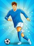 dribble σφαιρών ποδόσφαιρο φορέων διανυσματική απεικόνιση