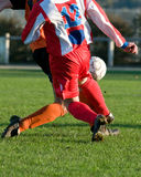 Dribble at football sport Stock Photo