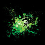 Dribble green splat Royalty Free Stock Photo