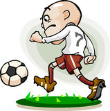 Dribble soccer player Stock Photography