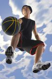 Dribbling player royalty free stock images