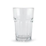 Dricka den glass koppen över vit bakgrund royaltyfri foto