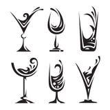 dricka exponeringsglas för samling Royaltyfri Foto