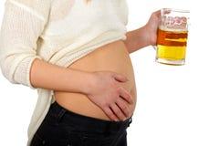 dricka för öl royaltyfri foto
