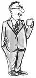 dricka för kaffe stock illustrationer
