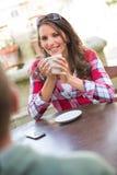 dricka för kaffepar Royaltyfria Foton