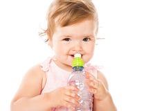 dricka flicka för flaska little Royaltyfria Bilder