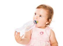 dricka flicka för flaska little Royaltyfri Bild