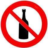 dricka inget tecken Fotografering för Bildbyråer