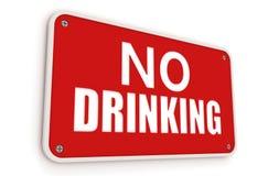 dricka inget tecken Royaltyfri Bild